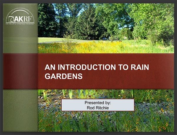 Rod Ritchie's Rain Garden Presentation Cover