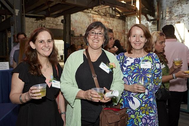 Left to right: Gabrielle Giddings, Rosanne Mistretta, and Kim Higgins of Abington Friends School.
