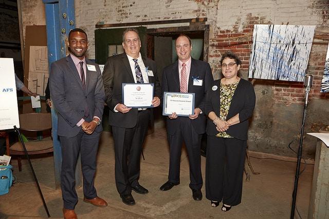 Representatives of Wawa receive the TTF Corporate Steward Award.