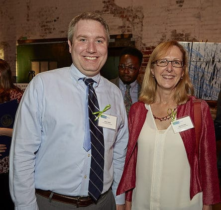 Left to right: Brian Doyle and Sharon Yates of A. D. Marble & Company.