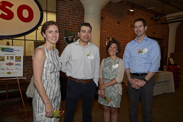Left to right - Alice Baker from PennFuture, Paul Spirou from Roofmeadow, Anna Ship from the Sustainable Business Network, and Michael Connor, TTF Board of Directors and The RBA Group.