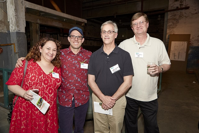 Left to right: Laura Reale and Matthew Reale of AquaReale, and Ken Bates and David Traczykiewicz from Infrastructure Solutions Services (ISS).