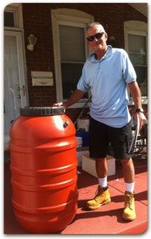 Order a rain barrel