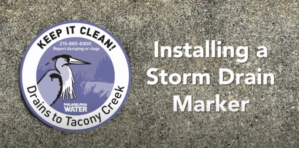 Storm Drain Marker Installation